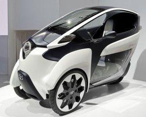 El nuevo triciclo eléctrico Toyota i-ROAD