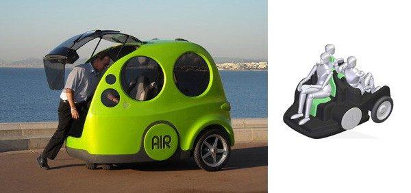 Presentan el AirPod, un automóvil a base de aire comprimido